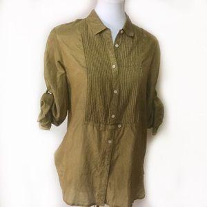 JCrew cotton/silk button down blouse SZ 10